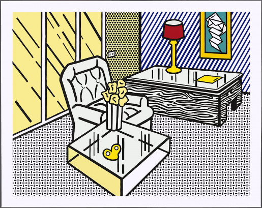 "Roy Lichtenstein, The Den, from ""Interior"" series, 1990"