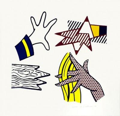 Study of Hands von Roy Lichtenstein