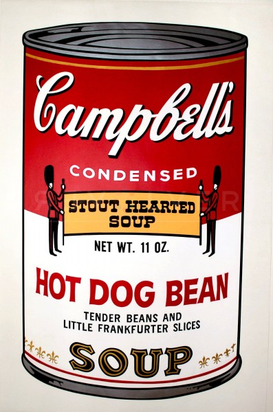 """Andy Warhol, Hot Dog Bean (FS II.59), from the Portfolio """"Campbell's Soup II"""", 1969"""