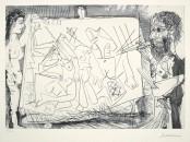 Dans l'Atelier (Peintre à son chevalet avec un modèle)