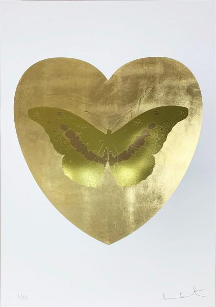 Damien Hirst, I Love You - Gold Leaf/Oriental Gold/Cool Gold, 2015
