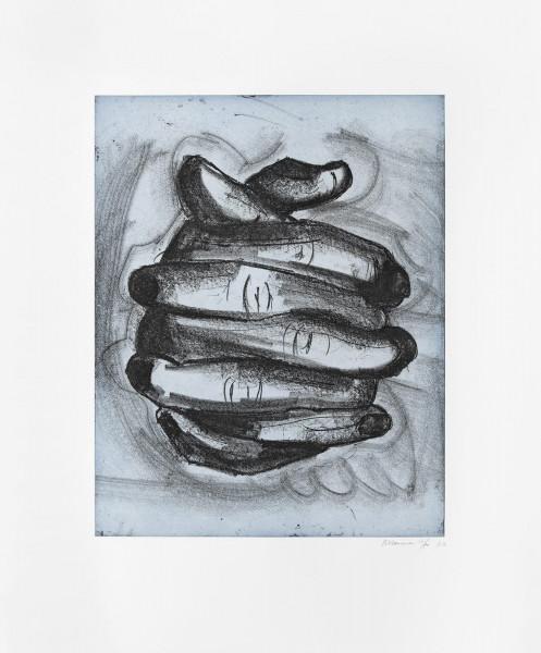 Bruce Nauman, Soft ground etching-blue, 2007