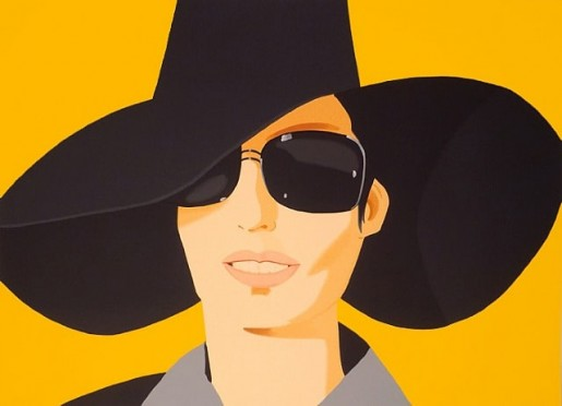 Alex Katz, Vivien in Black Hat, 2010