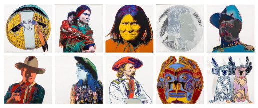 Andy Warhol, Cowboys and Indians (FS II.377 - FS II.386), complete Portfolio, 1986