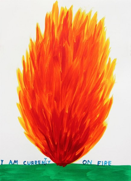 David Shrigley, I am Currently on Fire, 2018