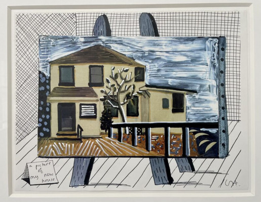 David Hockney, A picture of My New House, 1987