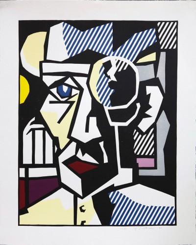 """Dr. Waldmann from the """"Expressionist Woodcuts"""" Series von Roy Lichtenstein"""