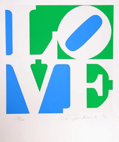 Robert Indiana, Love #8, from the Book Of Love, 1996