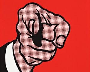 Finger Pointing von Roy Lichtenstein
