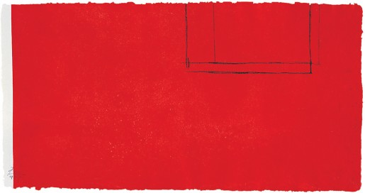 Robert Motherwell, Red Open with White Line, 1979