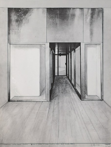 Christo, Monuments, Store Front Corridor, 1966/1967