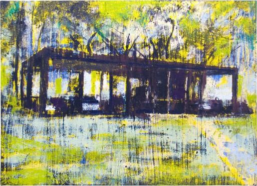 Enoc Perez, Glass House (Yellow), 2015