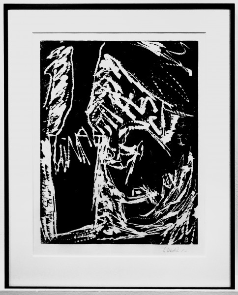 Georg Baselitz, Lesender Mann, 1982