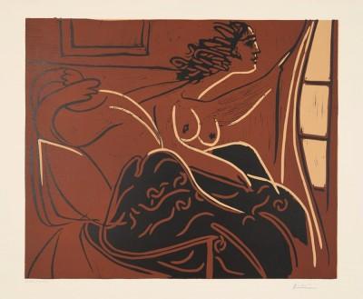 Femme regardant par la fenêtre von Pablo Picasso