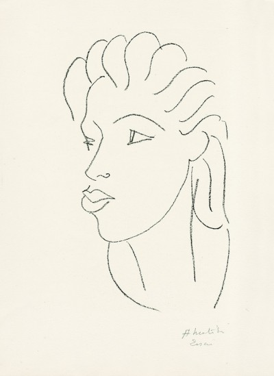 Chinoise aux cheveux striés von Henri Matisse