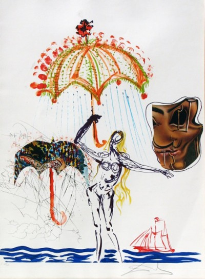 Anti-Umbrella with Atomized Liquid from Imagination and Objects of the Future von Salvador Dalí