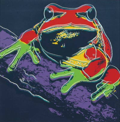 "Andy Warhol - Pine Barrens Tree Frog (FS II.294), from the Portfolio ""Endangered Species"""