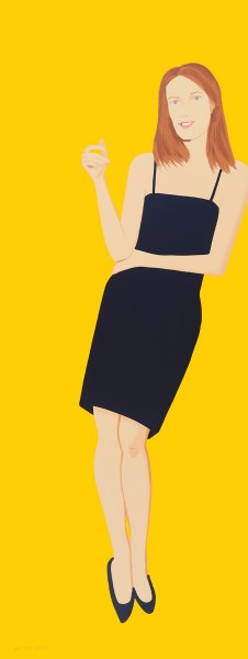 Alex Katz, Black Dress - Sharon, 2015