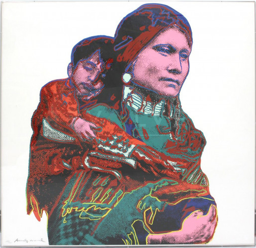 """Andy Warhol, Mother and Child (FS II.383), from the Portfolio """"Cowboys and Indians"""", 1986"""