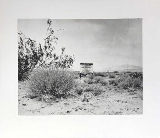 Ed Ruscha, Desert Gravure, 2006