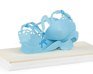 Tiny Dropped Bra (Maquette Liquitex) von Tom Wesselmann