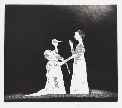 David Hockney, Old Rinkrank Threatens the Princess (Old Rinkrank), 1969