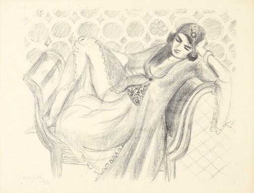 Henri Matisse, Repos sur la banquette, 1929