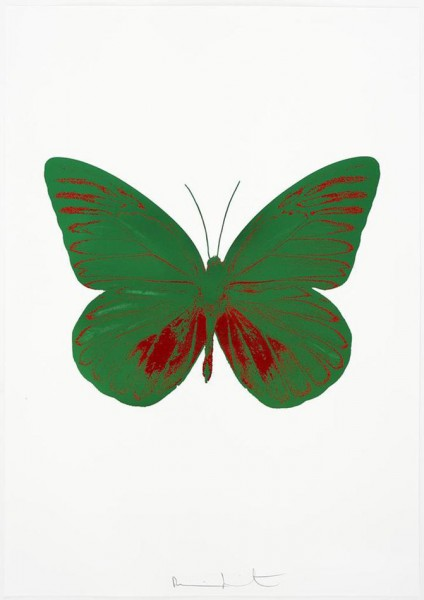 Damien Hirst, The Souls I - Emerald Green/Chilli Red, 2010