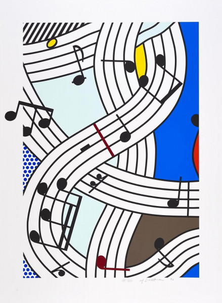 Roy Lichtenstein, Musical Notes (Composition I), 1996