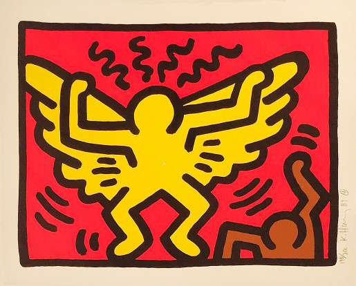 Keith Haring, Pop Shop IV (A), 1989