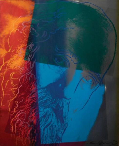 "Andy Warhol, Martin Buber (FS II.228), from the Portfolio ""Ten Portraits of Jews of the Twentieth Century"", 1980"