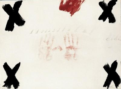 Dues mans von Antoni Tàpies