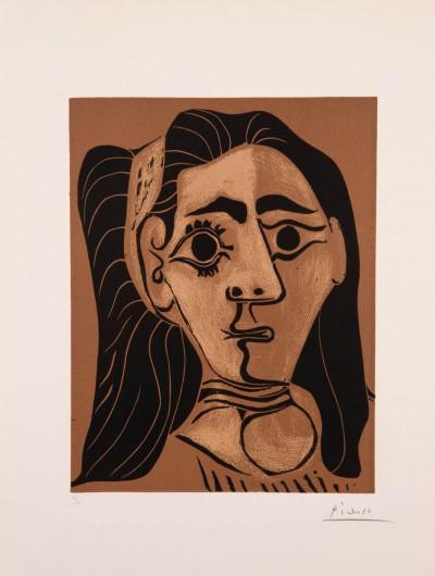 Femme aux cheveux flous (Jacqueline au bandeau. II) von Pablo Picasso